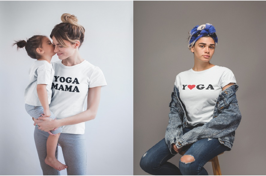 Yoga inspired T-shirts by One Aura Yoga